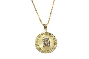 other 10K Yellow Gold Rope Chain with Jesus Face Pendant