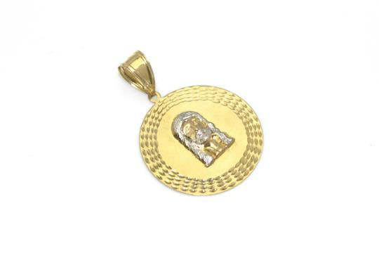 other 10K Yellow Gold Rope Chain with Jesus Face Pendant Image 2