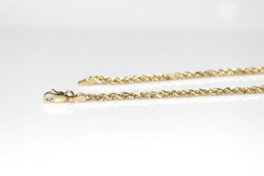 other 10K Yellow Gold Rope Chain with Jesus Face Pendant Image 3