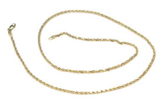 other 10K Yellow Gold Rope Chain with Jesus Face Pendant Image 4