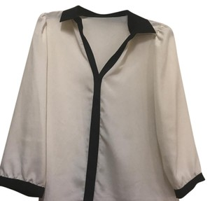 The Limited Button Down Shirt white and black