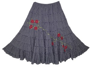 Raj Boho Peasant Embroidered Skirt