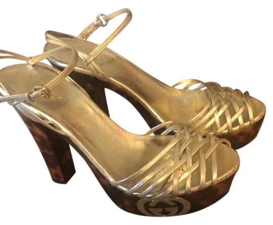 Gucci gold/brown Platforms Image 0
