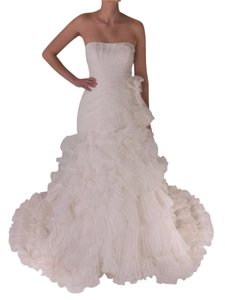 Pronovias Off-white Polyester Alga Modern Wedding Dress Size 10 (M)
