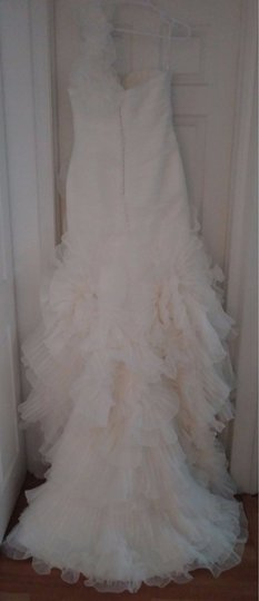 Pronovias Off-white Polyester Alga Modern Wedding Dress Size 10 (M) Image 7