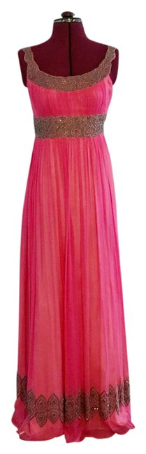 Preload https://img-static.tradesy.com/item/21989721/adrianna-papell-fuschia-pink-evening-gown-sequin-beaded-maxi-long-formal-dress-size-2-xs-0-1-650-650.jpg