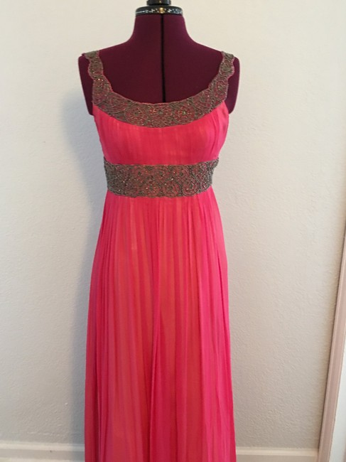 Adrianna Papell Beaded Evening Gown Maxi Sleeveless Maxi Gown Dress Image 1