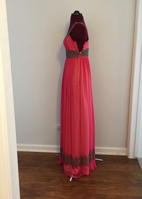 Adrianna Papell Beaded Evening Gown Maxi Sleeveless Maxi Gown Dress Image 2