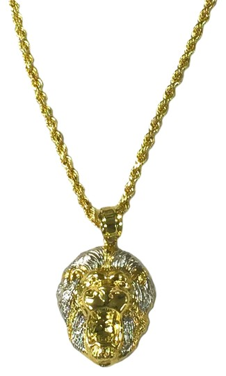 Preload https://img-static.tradesy.com/item/21990016/yellow-gold-10-rope-chain-with-lion-head-pendant-necklace-0-2-540-540.jpg