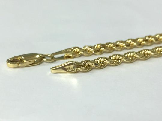 other 10 K Yellow Gold Rope Chain with Lion Head Pendant Image 3