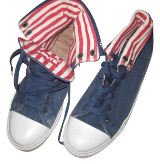 Item - Blue White and Red Independence Collection Sneakers Size US 11 Regular (M, B)