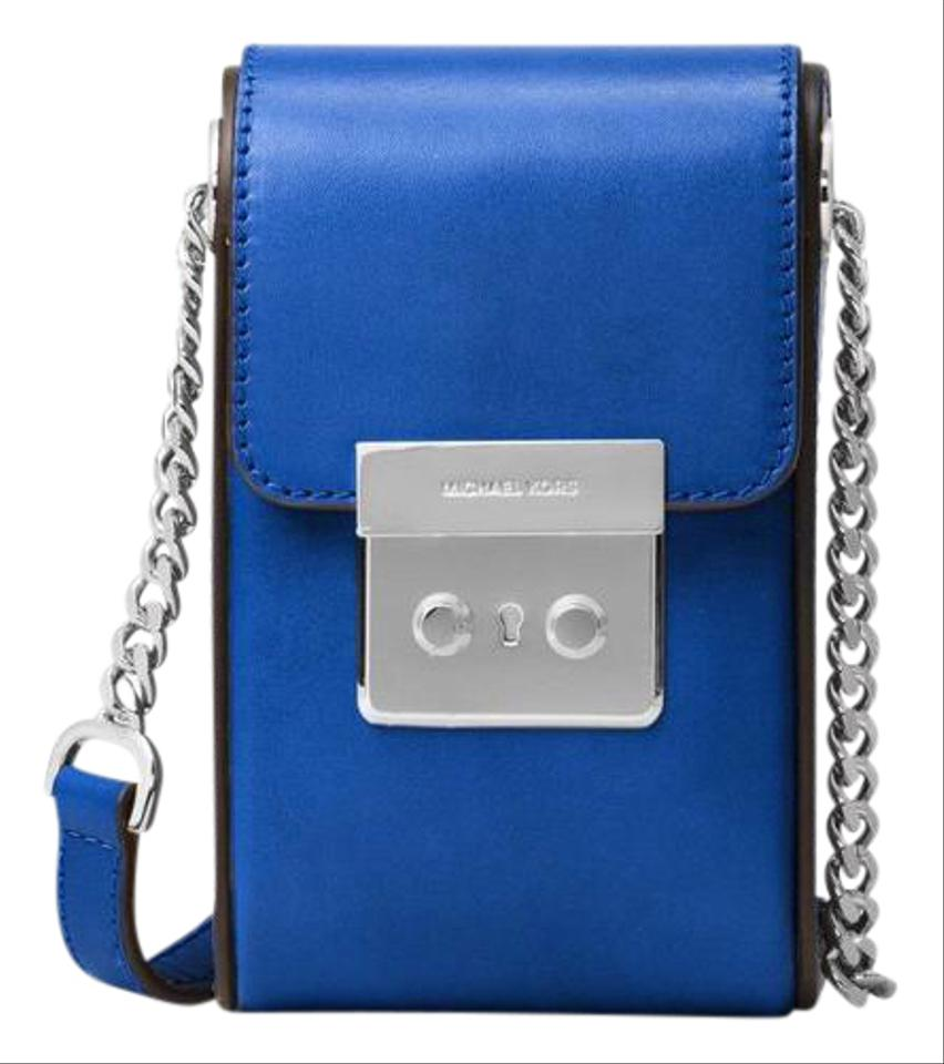1b0c9ea67bda Michael Kors Scout Collection Electric Blue Leather Cross Body Bag ...