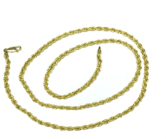 other 10K Yellow Gold Rope Chain with Angel Pendant Image 8