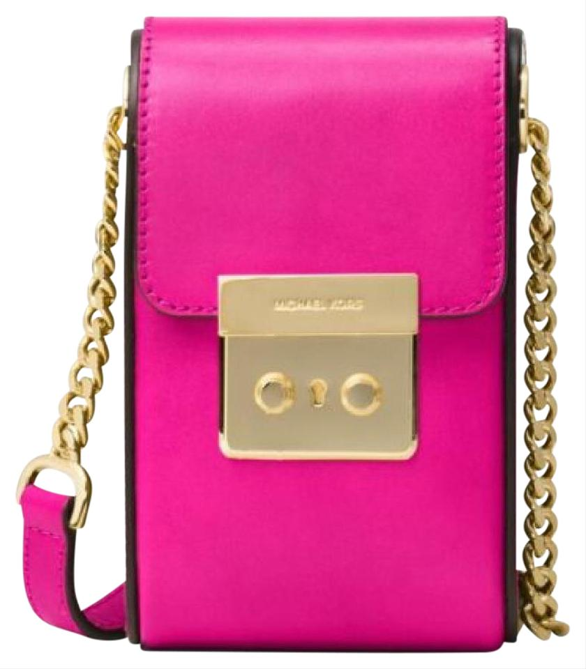 14e62648bb01 Michael Kors Scout Collection Raspberry Leather Cross Body Bag - Tradesy