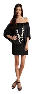 Voom by Joy Han short dress Black Tube Off The Shoulder Necklace Overlay Piper on Tradesy