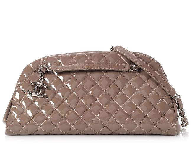 Item - Mademoiselle Bowling Just Medium Taupe Brown Patent Leather Shoulder Bag