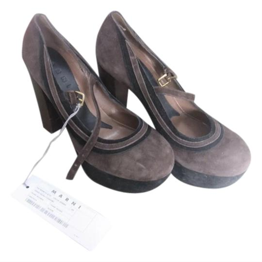 Marni Suede Brown Pumps