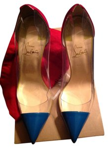Christian Louboutin Debout Leather Redsoles 100mm Riviera Pumps