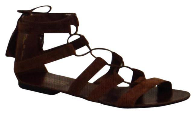 Item - Brown Hipster Lace-up Sandals Size US 7.5 Regular (M, B)