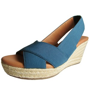 Gentle Souls Espadrille Wedge New Foam Midnight Sandals