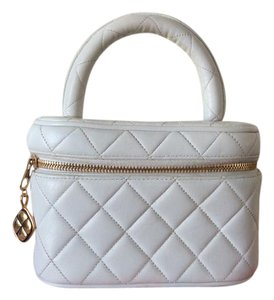 Chanel Vanity Satchel in White