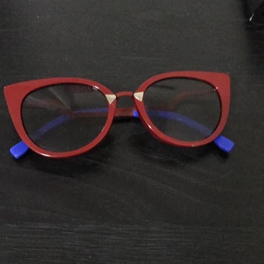 Preload https://img-static.tradesy.com/item/21991869/fendi-red-and-blue-cat-eye-sunglasses-0-0-540-540.jpg