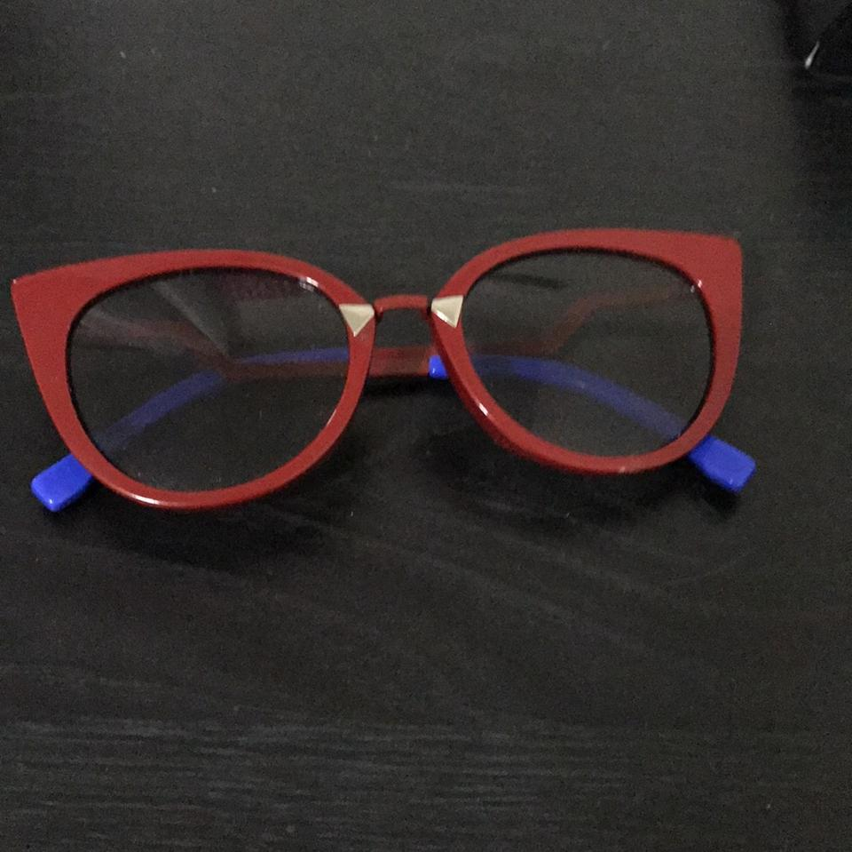 e60ef20a25 Fendi Red and Blue Cat-eye Sunglasses - Tradesy