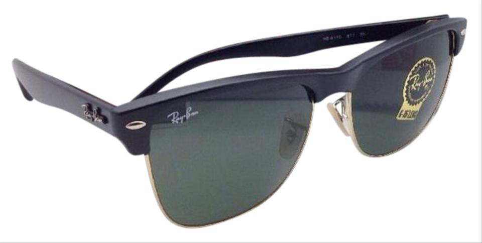 17ab4ae926 Ray-Ban Ray-Ban Sunglasses CLUBMASTER OVERSIZED RB 4175 877 Black   Gold  Frame ...