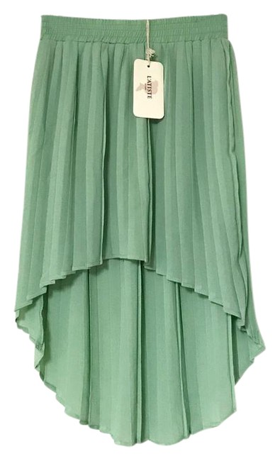 Preload https://img-static.tradesy.com/item/21991967/mint-pleated-high-low-bohemian-midi-skirt-size-4-s-27-0-1-650-650.jpg