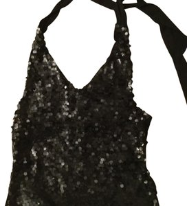 Saja (New Without Tag) Black Halter Top