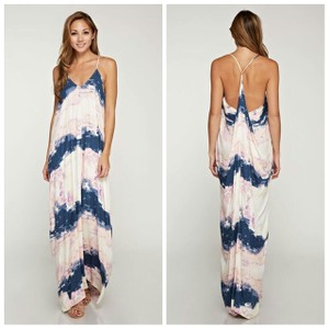 cream, navy, lilac/pink Maxi Dress by Love Stitch