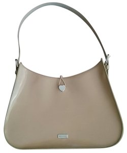 Moschino Leather Chic Signature Silver Hardware Casual Shoulder Bag