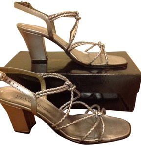 Saint Laurent Leather Steel Sandals