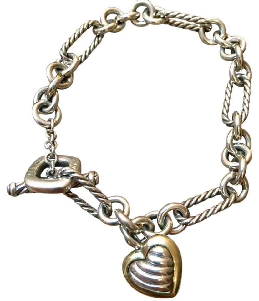 David Yurman Charm Bracelet: David Yurman Cable Heart Charm Bracelet