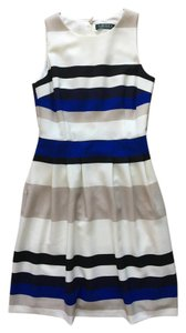Lauren Ralph Lauren Fitted Shift Sundress Color-blocking Dress