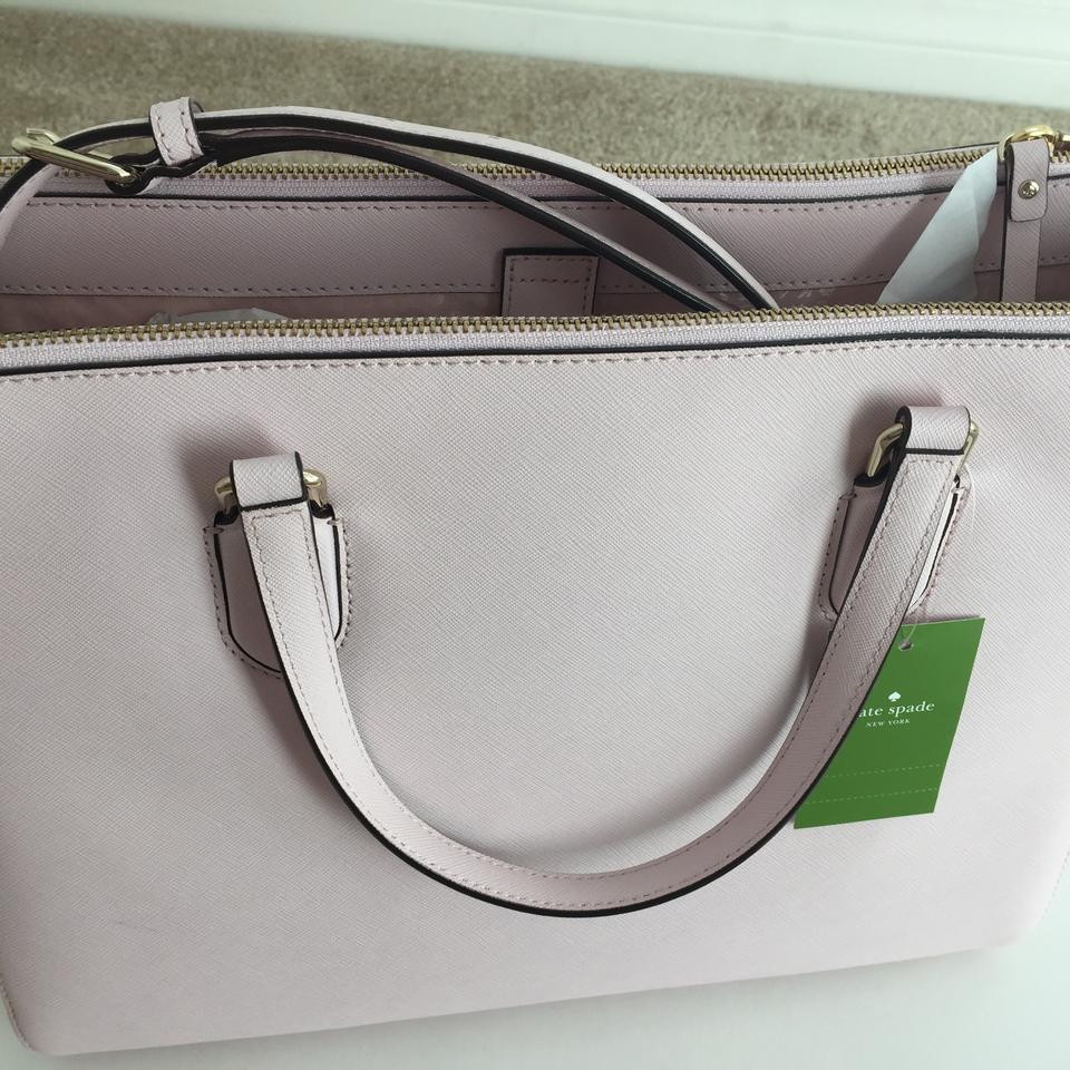 4299355e6c9 Kate Spade Laurel Way Leighann Wkru4093 Pink Saffiano Leather Tote - Tradesy