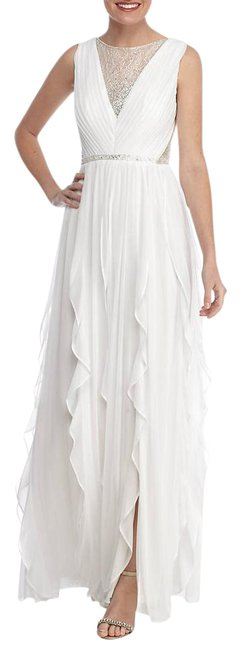 Preload https://img-static.tradesy.com/item/21992739/adrianna-papell-ivory-illusion-neckline-ruffle-tulle-gown-long-formal-dress-size-8-m-0-1-650-650.jpg
