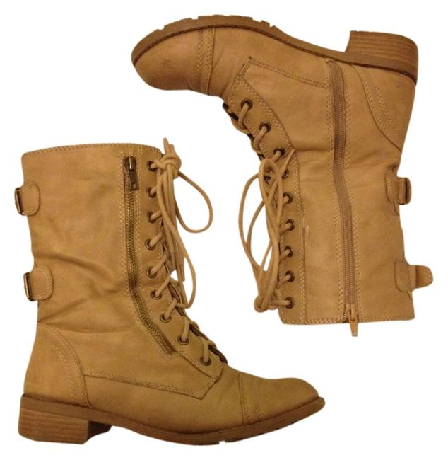 Item - Tan Combat Military Grunge Boots/Booties Size US 8.5