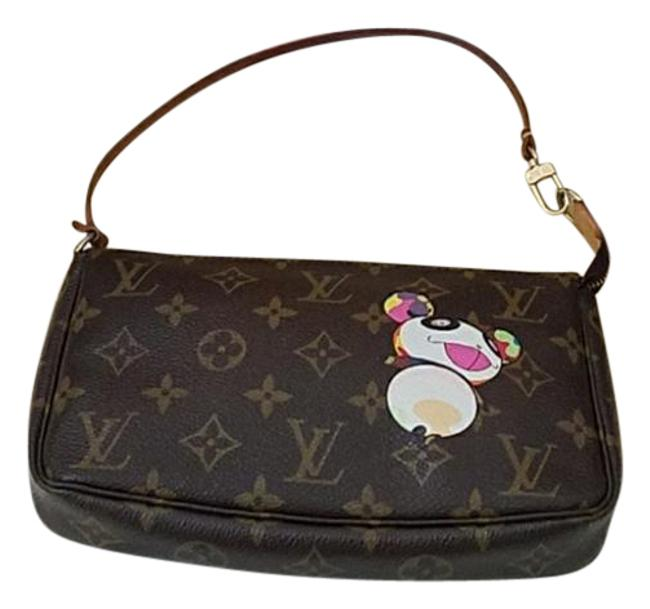 Item - Pochette Box W Takashi Murakami Panda W/ Reciepts Lv Dust Brown Tan & Multi-colored Print Canvas Shoulder Bag