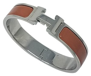 Hermès Palladium-plated Hermes Narrow Clic Clac H bangle