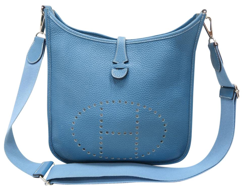 822521b60000 Hermès Evelyne Iii Pm Steelblue Togo Shoulder Bag - Tradesy