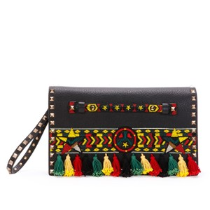Valentino Red, yellow, green Clutch