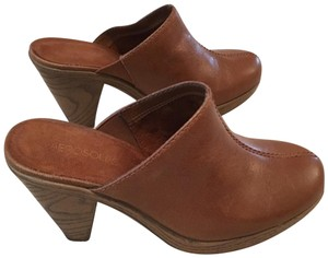 Aerosoles Mule/Clogs Leather Leather Womans Brown Mules