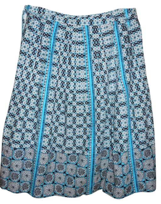 Preload https://item1.tradesy.com/images/ann-taylor-loft-white-black-and-turquoise-size-4-s-27-2199335-0-0.jpg?width=400&height=650