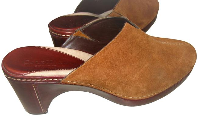 Item - Tan Brown Suede Heeled Wedged Mules/Slides Size US 9 Regular (M, B)