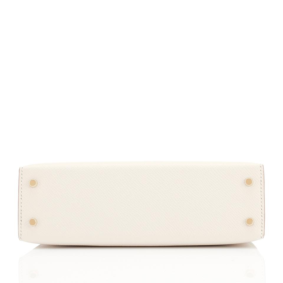 0b107ba63361 Hermès Kelly 20cm Mini Off White Limited Edition Vi Craie Leather Shoulder  Bag - Tradesy