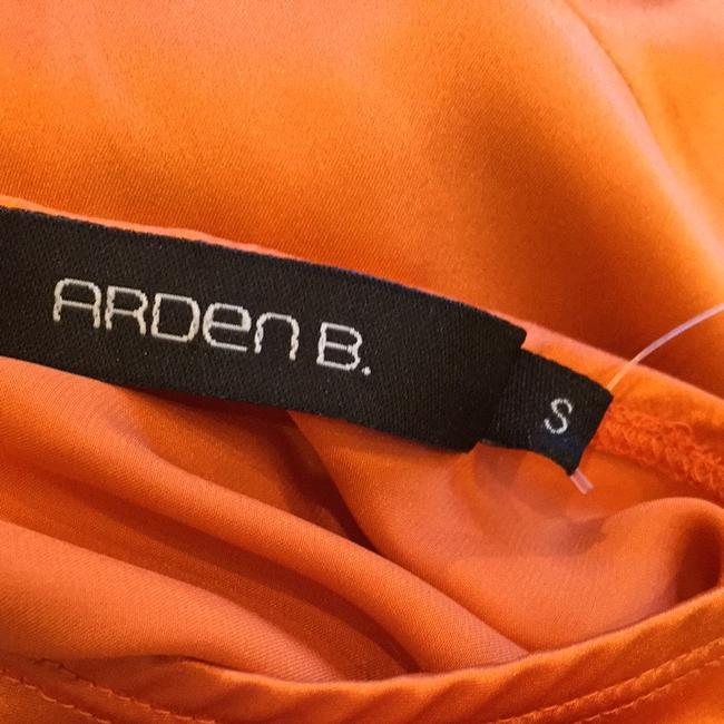 Arden B. Orange With Embroidery Halter Top