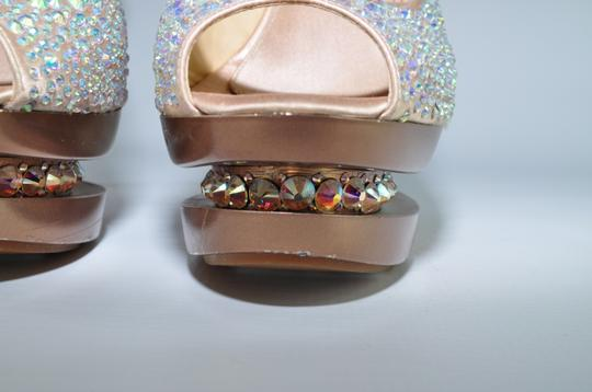 Gianmarco Lorenzi Crystal Disco Ball Pumps Blush Pink Platforms Image 3