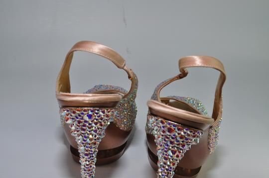 Gianmarco Lorenzi Crystal Disco Ball Pumps Blush Pink Platforms Image 6