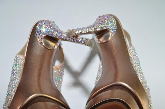 Gianmarco Lorenzi Crystal Disco Ball Pumps Blush Pink Platforms Image 8